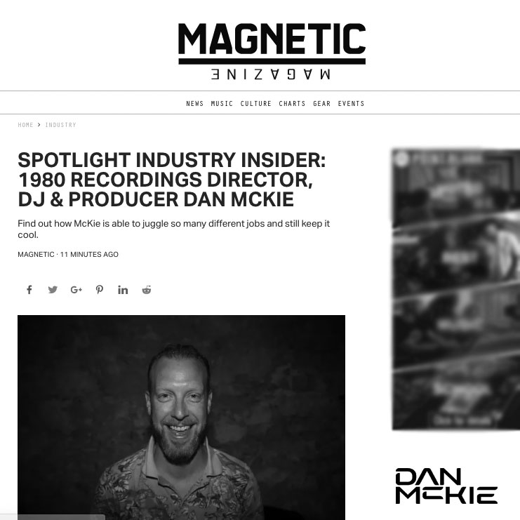 Dan McKie Magnetic Magazine Interview 2019