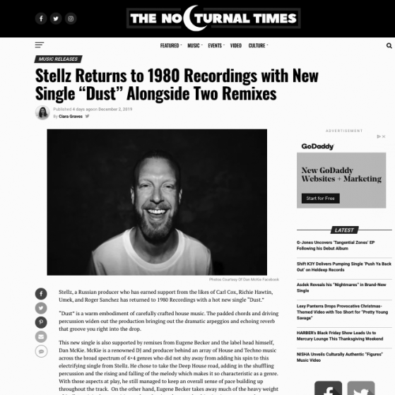 Nocturnal Times - Dan McKie Re-Edit Review